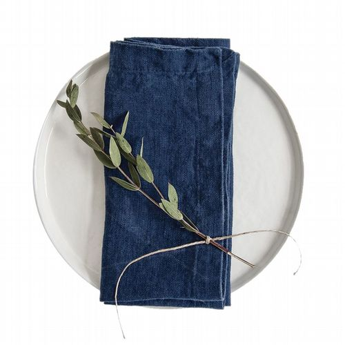 Linen Napkins Set Of 2 - Navy